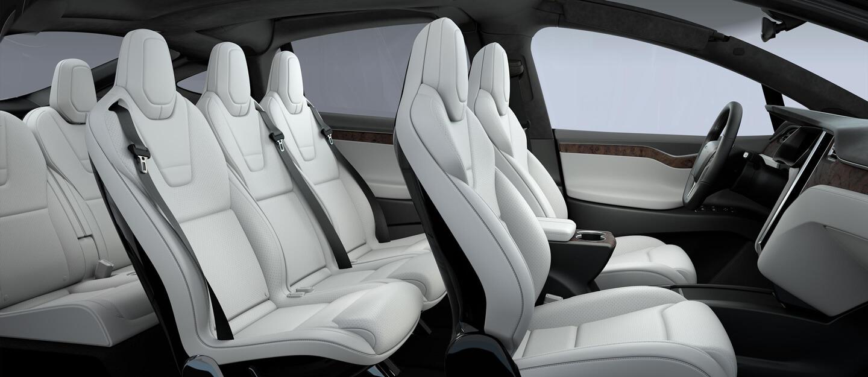 Coche Eléctrico - Tesla Model X Interior